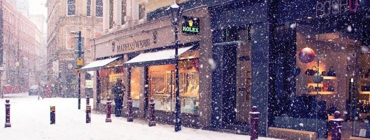 Toitures commerciales en hiver